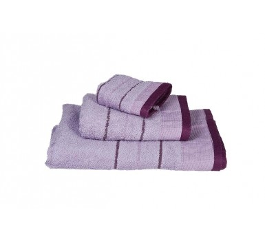 Πετσέτες Πισίνας Pool Stripe Line Lilac 550Gsm Cotton Blanc de Blanc (80x145) 1Τεμ