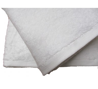 Πετσέτα Προσώπου Plain Line Solid White 500 gsm Cotton Blanc de Blanc (50x100) 1Τεμ