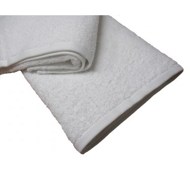 Πετσέτα Προσώπου Plain Line Solid White 550 gsm Cotton Blanc de Blanc (50x100) 1Τεμ