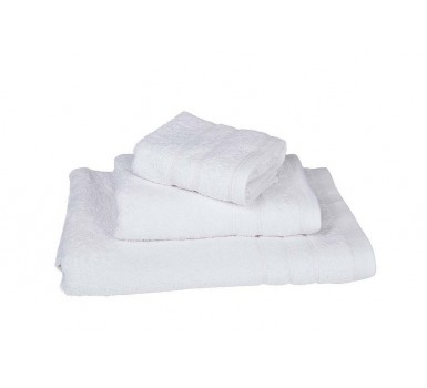 Πετσέτα Λαβέτα Plain Line Solid White 500 gsm Cotton Blanc de Blanc (30x30) 1Τεμ
