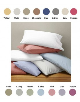 Μαξιλαροθήκες Σετ Oxford Solid Percale 200TC Cotton Blanc de Blanc (50x70+5) 1Τεμ
