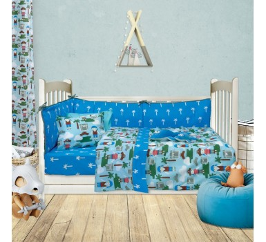 Πάντα Κούνιας Baby Fun Line Prints 6419 Cotton Das Home (45x195) 1Τεμ