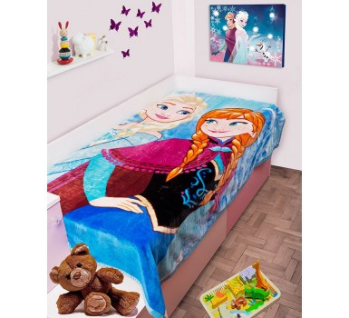 Κουβέρτα Βελουτέ Μονή Disney Kids Velour Frozen 501 Digital Print Dim Collection (160x220) 1Τεμ