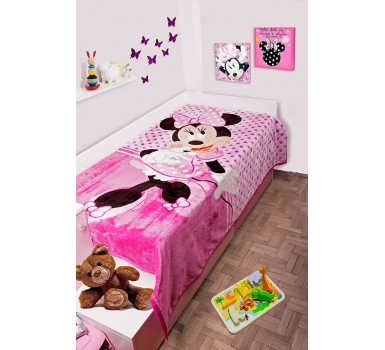 Κουβέρτα Βελουτέ Μονή Disney Kids Velour Minnie 551 Digital Print Dim Collection (160x220) 1Τεμ