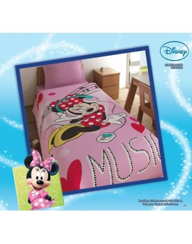 Κουβέρτα Μονή Disney Minnie Music Limnaios (160x240) 1Tεμ