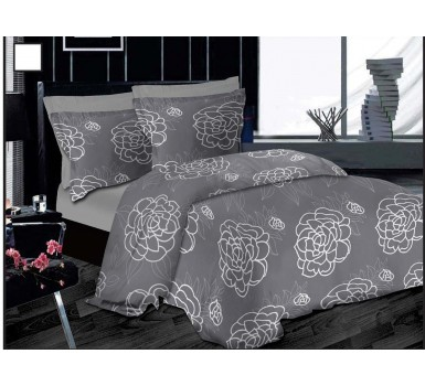 Μαξιλαροθήκες Σετ Premium Night Lotus Grey Cotton Le Blanc (50x70) 2Τεμ