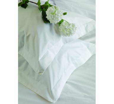 Μαξιλαροθήκη Solid White Plain 200TC Percale Cotton Palamaiki (50x75) 1Τεμ