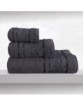Πετσέτα Χεριών Bath Towels Themis Denim Jacquard Cotton Sb Concept (30x50) 1Τεμ