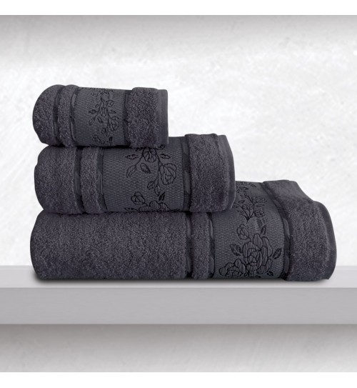 Πετσέτες Σετ Bath Towels Themis Denim Jacquard Cotton Sb Concept 3Τεμ
