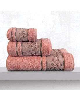 Πετσέτα Χεριών Bath Towels Themis Salmon Jacquard Cotton Sb Concept (30x50) 1Τεμ