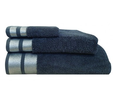 Πετσέτα Χεριών Bath Towels Ice Anthracite Cotton Makis Tselios (30x50) 1Τεμ