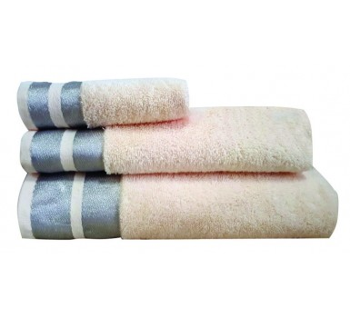 Πετσέτα Χεριών Bath Towels Ice Ecru Cotton Makis Tselios (30x50) 1Τεμ