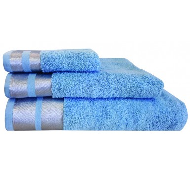 Πετσέτα Χεριών Bath Towels Ice L.Blue Cotton Makis Tselios (30x50) 1Τεμ