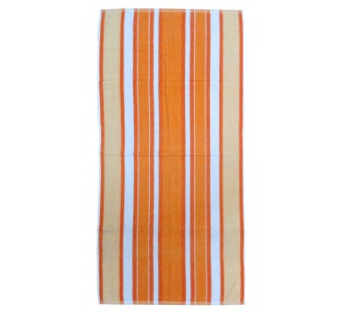 Πετσέτα Θαλάσσης Beach Towel Frote Coral Orange Viopros (75x150) 1Τεμ