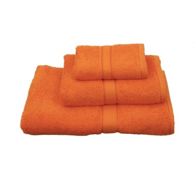 Πετσέτα Λαβέτα Classic Towels Solid Orange Cotton Viopros (30x30) 1Τεμ