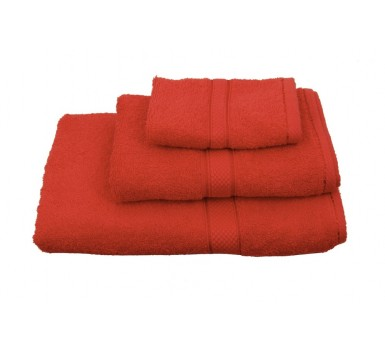 Πετσέτα Λαβέτα Classic Towels Solid Red Cotton Viopros (30x30) 1Τεμ