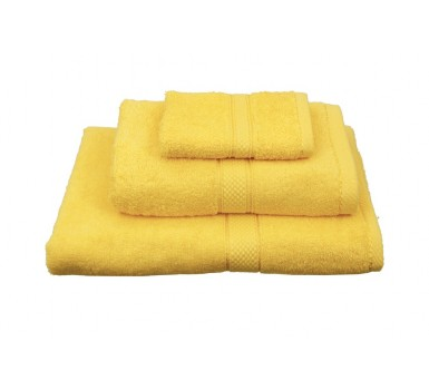 Πετσέτα Λαβέτα Classic Towels Solid Yellow Cotton Viopros (30x30) 1Τεμ