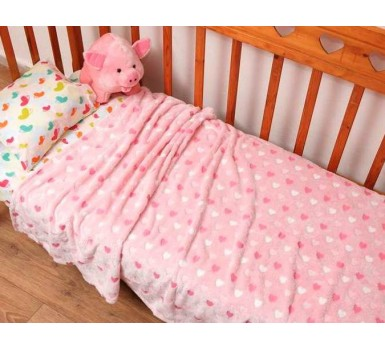 Κουβέρτα Fleece Μονή Kids Bed Heart Jacquard Viopros (152x220) 1Τεμ