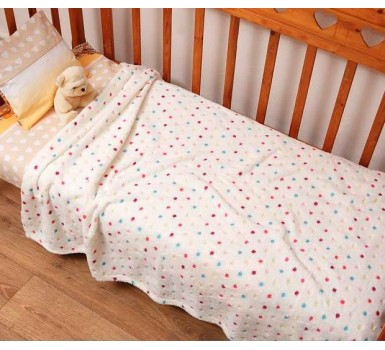 Κουβέρτα Fleece Μονή Kids Bed Dots Jacquard Viopros (152x220) 1Τεμ